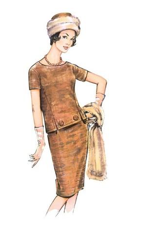Выкройка Burda (Бурда) 7175 — Ансамбль: кофта, юбка, шапка, шарф