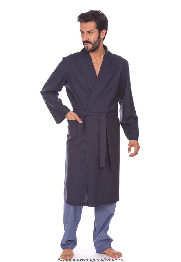 Домашний халат из тонкой шерсти B&B