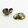 """Шапочка для бусины """"Трилистник"""" (цвет - античная бронза) 15х5 мм, 10 штук"""