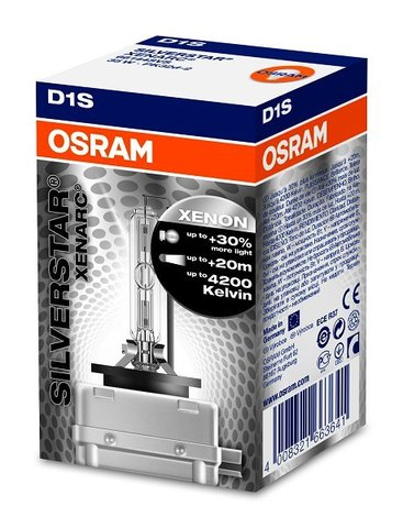 Лампа ксенон D1S (5500К) Osram Xenarc Silverstar