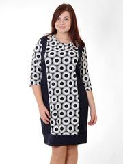 31410-2 платье ФИОНА,молочно-черное