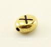 "Бусина овальная TierraCast ""Буква X"" 7х6х3 мм (цвет-античное золото)"