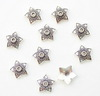 """Шапочка для бусины """"Звездочка"""" (цвет - античное серебро) 13х3 мм, 10 штук"""