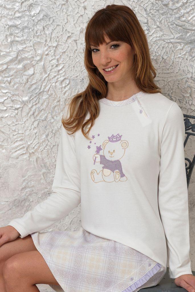 Ночная сорочка с мишкой Vilfram (Домашние платья и ночные сорочки)