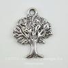 "Подвеска ""Дерево"" 21х16 мм (цвет - античное серебро)"