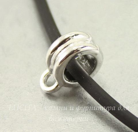 Бейл (цвет - серебро) 11х8х4 мм, 5 штук