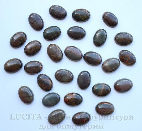 Кабошон Яшма Пикассо (цвет - серо-оливковый) 18х13х6 мм №6 ()