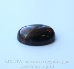 Кабошон овальный Яшма Пикассо черно-песочная, 18х13х6 мм №4
