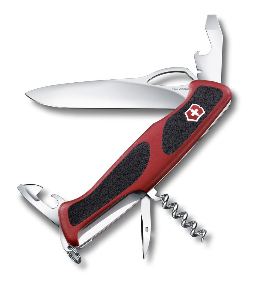 Нож Victorinox RangerGrip 61, 130 мм, 11 функ, красный