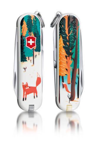 """Нож-брелок Victorinox Classic LE 2013, 58 мм, 7 функ, """"Foxy""""  (0.6223.L1308)"""
