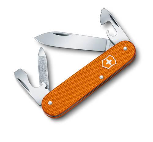 Армейский нож 84 мм LE 2012 Cadet 5 Colors, алюминиевая рукоять, оранжевый, 0.2600.L1229