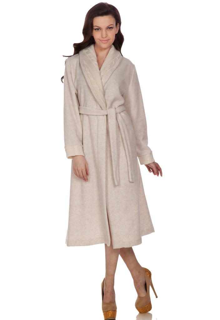 Теплый женский халат B&B (Женские халаты)