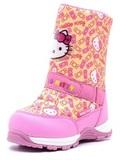 Зимние сапоги Хелло Китти (Hello Kitty) на молнии с мембраной для девочек, цвет желтый. Изображение 3 из 8.