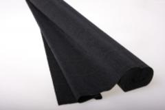 Бумага гофрированная черная (602)