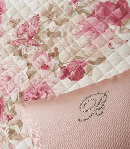 Покрывало 270х270 Blumarine Butterfly's розовое