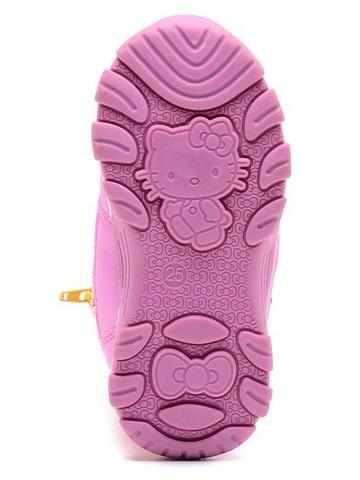 Зимние сапоги Хелло Китти (Hello Kitty) на молнии с мембраной для девочек, цвет желтый. Изображение 6 из 8.
