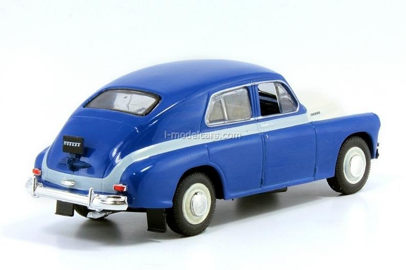 GAZ-M20V Pobeda white-blue 1:43 DeAgostini Auto Legends USSR Best #1