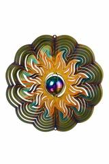 Ветряной спиннер Солнце с перламутровым шаром 25см