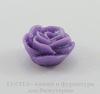 """Кабошон акриловый """"Роза"""", цвет - фиолетовый с блестками, 14 мм"""