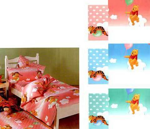 Детское постельное белье Сaleffi Pooh Happy голубое