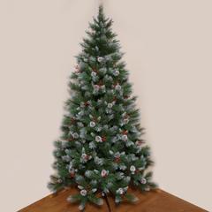 Ёлка Triumph Tree Шарлотта Шишки + Ягоды Заснеженная 215 см