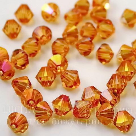 5328 Бусина - биконус Сваровски Crystal Astral Pink  4 мм, 12 штук