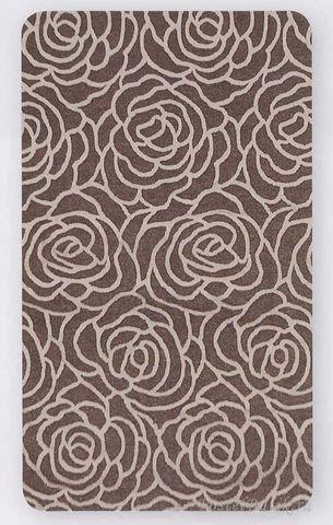 Элитный коврик для ванной махровый Rosetta серый от Caleffi