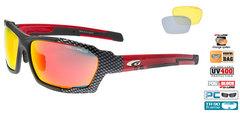 Спортивные очки goggle линия CLIZZ black carbon/red