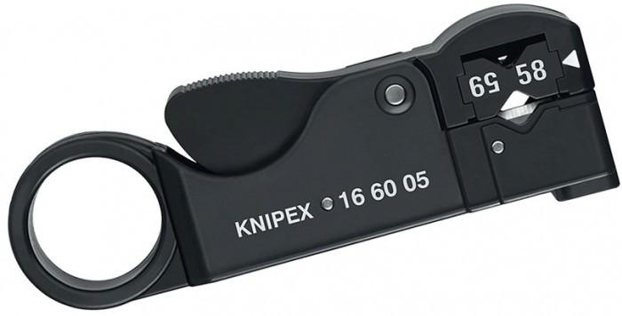 Инструмент для снятия изоляции с коаксиальных кабелей Knipex KN-166005SB