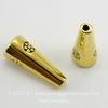 """Шапочка - конус для бусины """"Цветочки"""" 21х8 мм (цвет - античное золото)"""