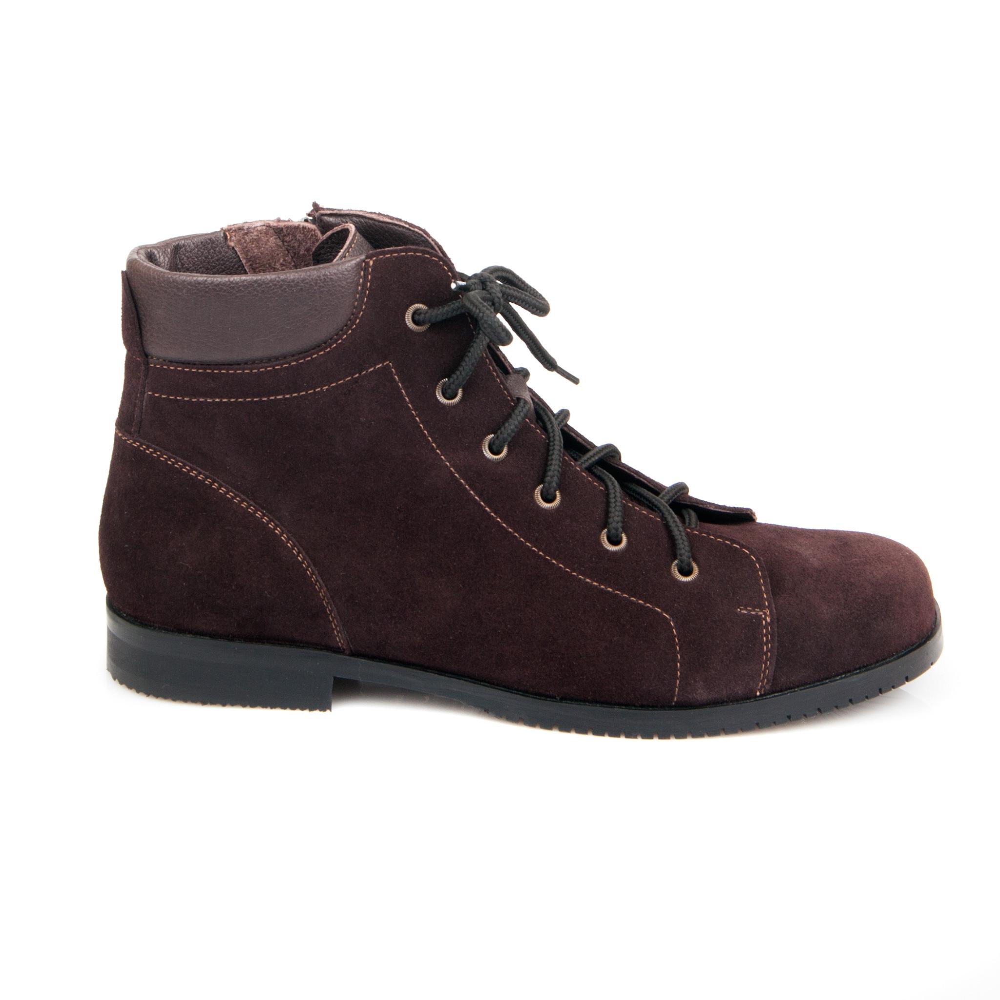558370 ботинки женские коричневые больших размеров марки Делфино