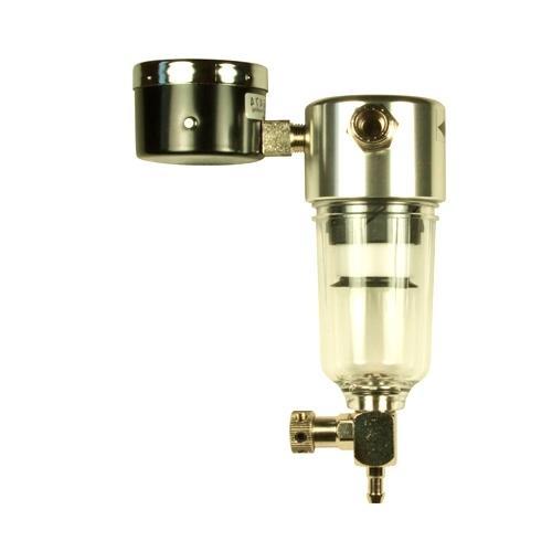 Сепаратор-регулятор давления - стравливающий. Штуцер1/8`- штуцер1/8` (c манометром) (Sparmax)