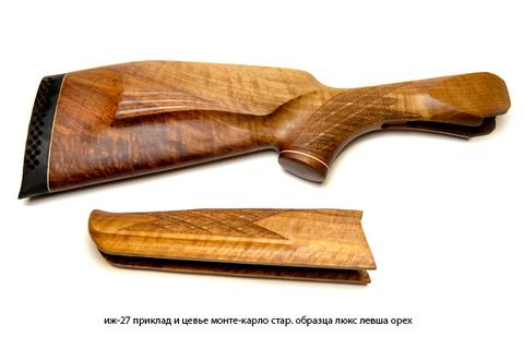 иж-27 приклад и цевье монте-карло стар. образца люкс левша орех