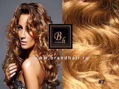 Вьющиеся волосы 7-Светло-коричневый золотистый 52 см
