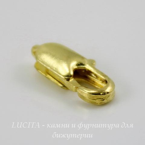 Замок - карабин 12х6 мм (цвет - золото)