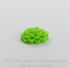 """Кабошон-коннектор акриловый """"Цветок"""" (1-1), цвет - салатовый, 14 мм"""