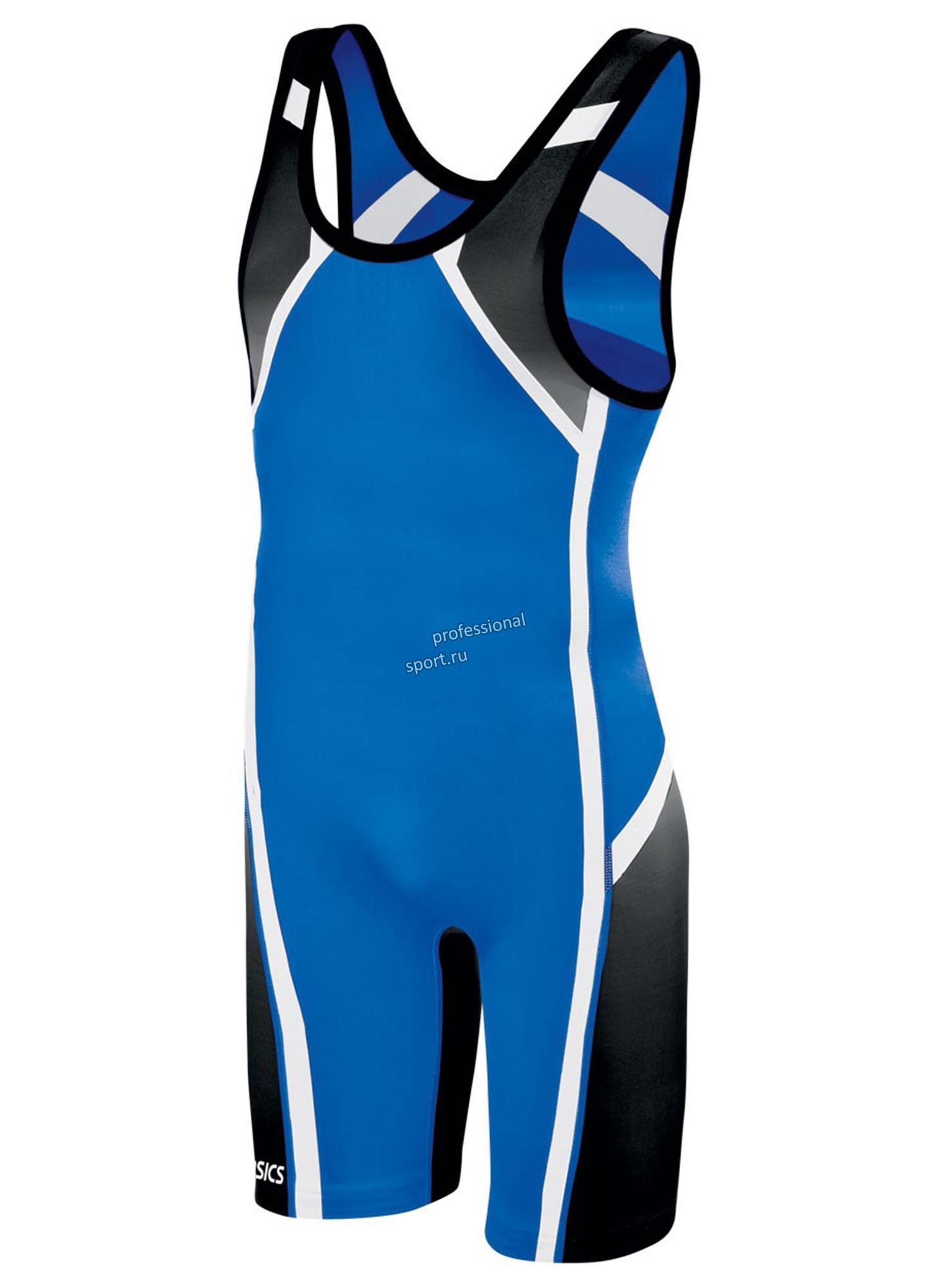 Мужское борцовское трико Asics Wrestling Singlet blue (JT1153 0043)