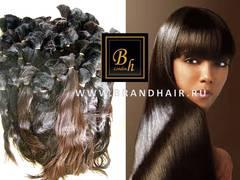 Натуральные неокрашенные волосы в срезе-60 CM-вес 100 гр