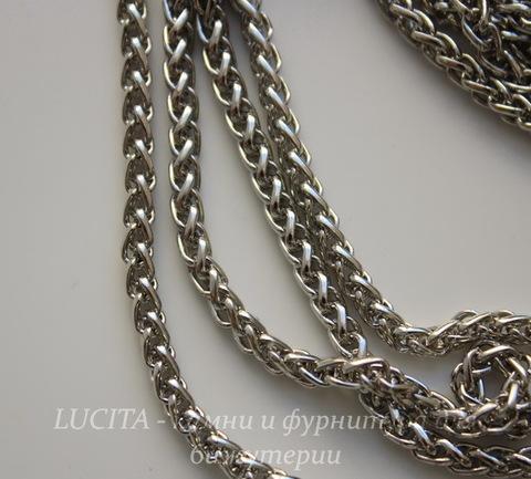 Цепь - жгут (цвет - античное серебро) 5х3,5 мм, примерно 3 м