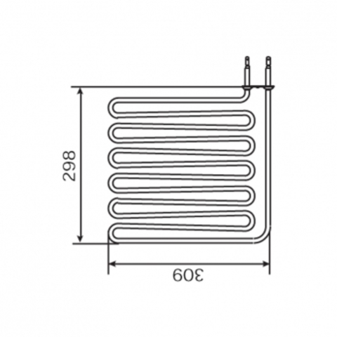 ТЭН Harvia - тэн харвия 3000W ZSB-229 (ZSB229) 230V - нагревательный элемент для печи сауны