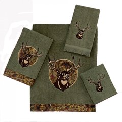 Полотенце 41х76 Avanti Camo Deer зеленое