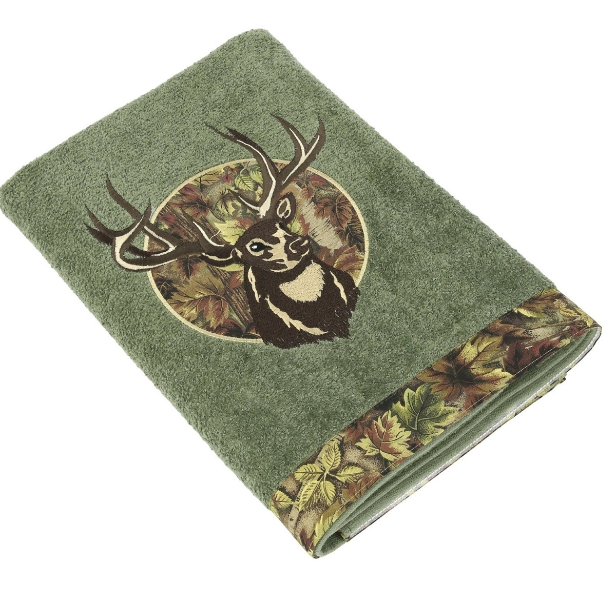 Полотенца Полотенце 41х76 Avanti Camo Deer зеленое elitnoe-polotentse-mahrovoe-camo-deer-zelenoe-ot-avanti-kanada-bannoye.jpg