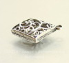 """Подвеска """"Ажурный ромб"""" (цвет - античное серебро) 39х34 мм"""