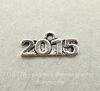 "Подвеска ""2015"" (цвет - античное серебро) 15х6 мм"