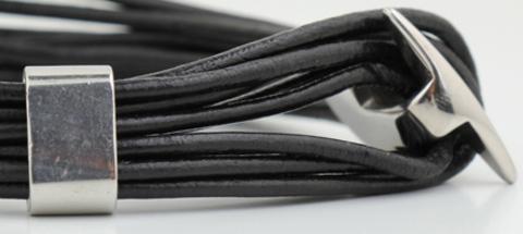 Мужской браслет из кожаного шнура Steelman mn0065