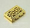 Разделитель на 3 нити (цвет - античное золото) 17х12х4 мм