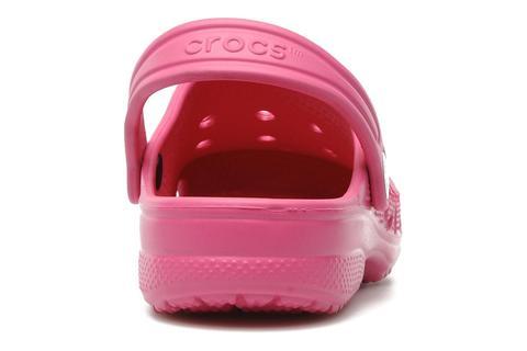 Сабо Крокс (Crocs) пляжные шлепанцы кроксы для девочек, цвет розовый. Изображение 5 из 7.