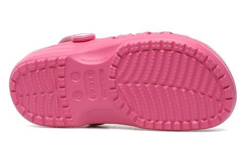 Сабо Крокс (Crocs) пляжные шлепанцы кроксы для девочек, цвет розовый. Изображение 7 из 7.