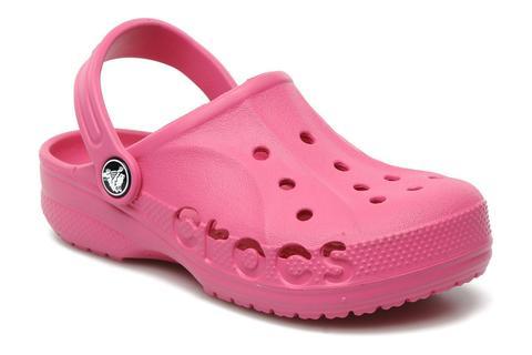 Сабо Крокс (Crocs) пляжные шлепанцы кроксы для девочек, цвет розовый. Изображение 1 из 7.