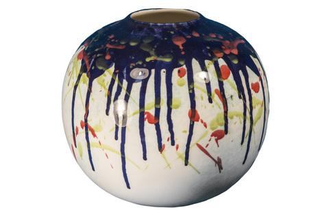 Элитная ваза декоративная Abstraction низкая от S. Bernardo
